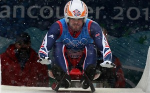 AJ Rosen competing in the luge for Team GB