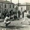 John Thomas batting for the Liverpool Postal Pirates in the mid-1950s